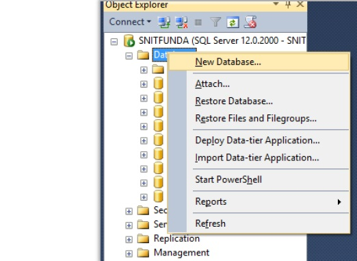 how to create new server in sql