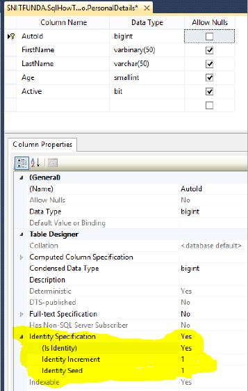 After setting this save it by clicking the Save icon from top-left.  sc 1 st  TechFunda & Set auto-increment column in SQL Server - Tech Funda