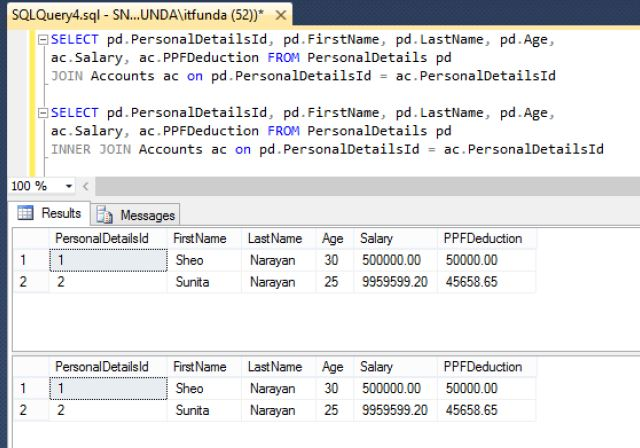 Inner Join More Than One Tables In Sql Server Tech Funda
