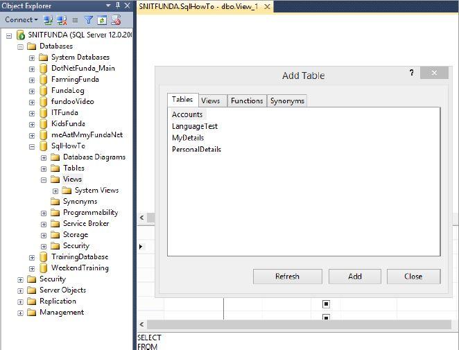 Creation Of View In Sql Server In Sql Server Tech Funda
