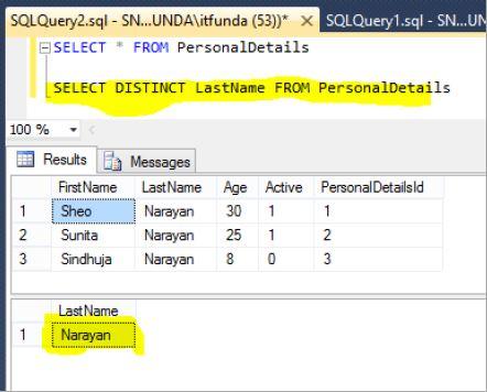 Distinct Unique In SQL Server