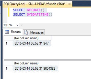 Sql server query to get current date time