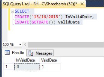 Check for valid date in SQL Server - Tech Funda