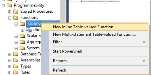 Create a Table-valued function in SQL Server - Tech Funda
