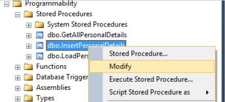 Alter Modify A Stored Procedure In Sql Server Tech Funda
