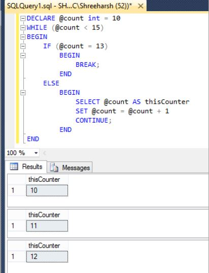 Use WHILE loop in SQL Server - Tech Funda