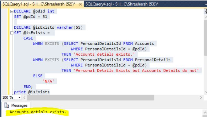 CASE to set a variable value in SQL Server - Tech Funda