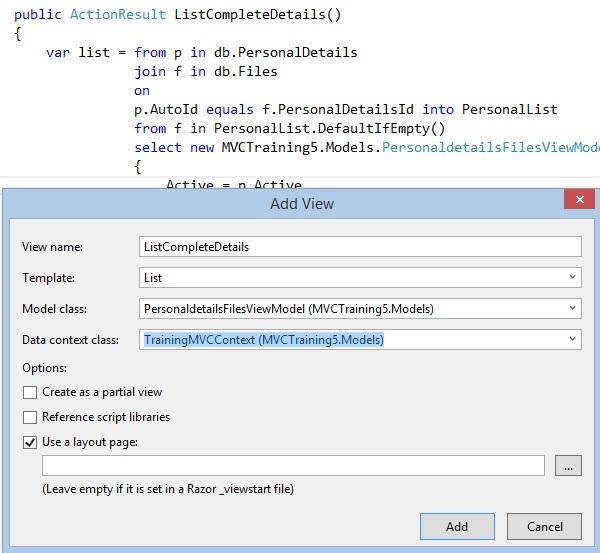 List data using ViewModel in ASP NET MVC - Tech Funda