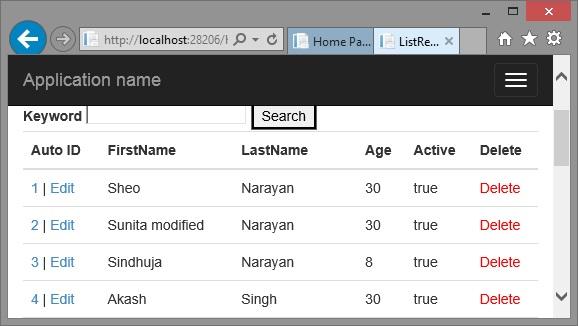 Update record using Web API in ASP NET MVC - Tech Funda