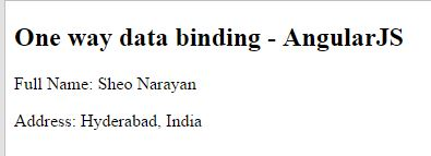 Angular JS one way binding