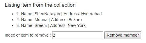 Remove item from collection in AngularJS
