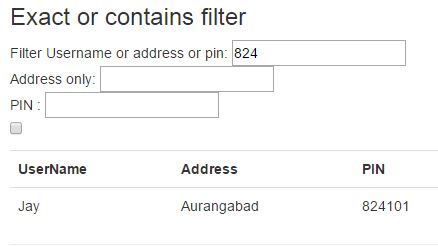 Exact or contains filter in angularjs