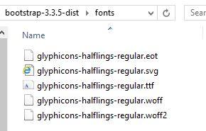 Glyphicons-halflings-regular. Woff2 not loading 404 error stack.