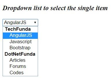 Select Dropdown in HTML5 - Tech Funda