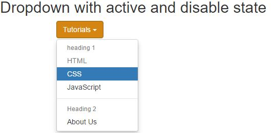Dropdown-menu in Bootstrap - Tech Funda