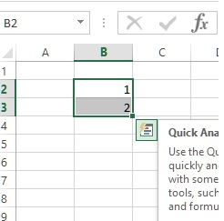 auto fill count in ms excel