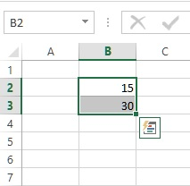 writing table in excel