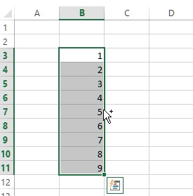 start move range of cells in excel