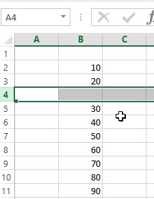 Insert row in excel