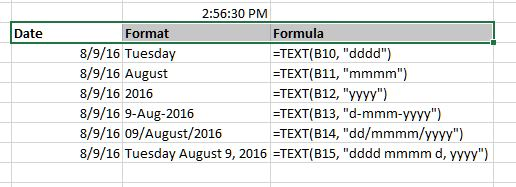 Different date formats in Excel