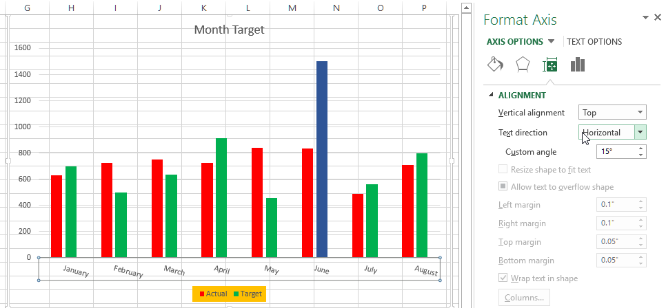 Excel Chart label formatting