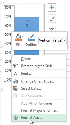 Format axis in Excel chart