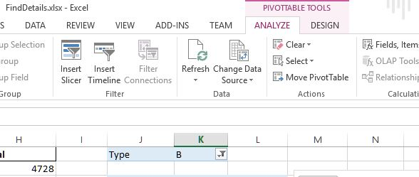 Pivot Table contextual tabs on the ribbon in Excel