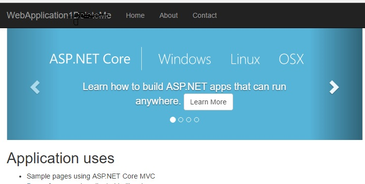 ASP.NET Core sample application