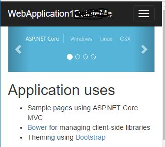 Mobile friendly ASP.NET Core application